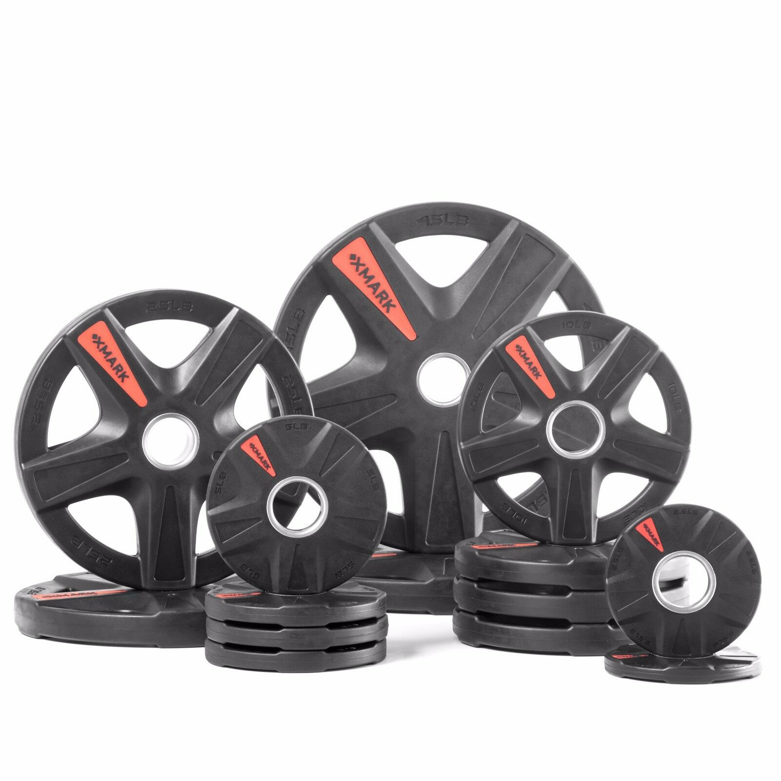 XMark's TEXAS STAR 205 lb. Select Rubber Coated Olympic set XM-3389-BAL-205
