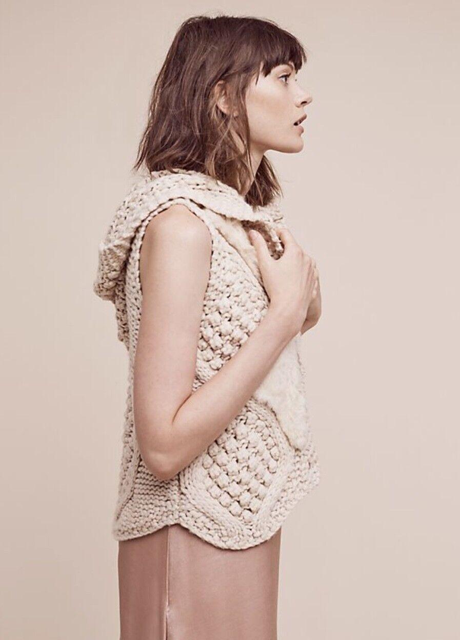 Anthropologie Pelage Crochet Sweater Vest Size XS… - image 1
