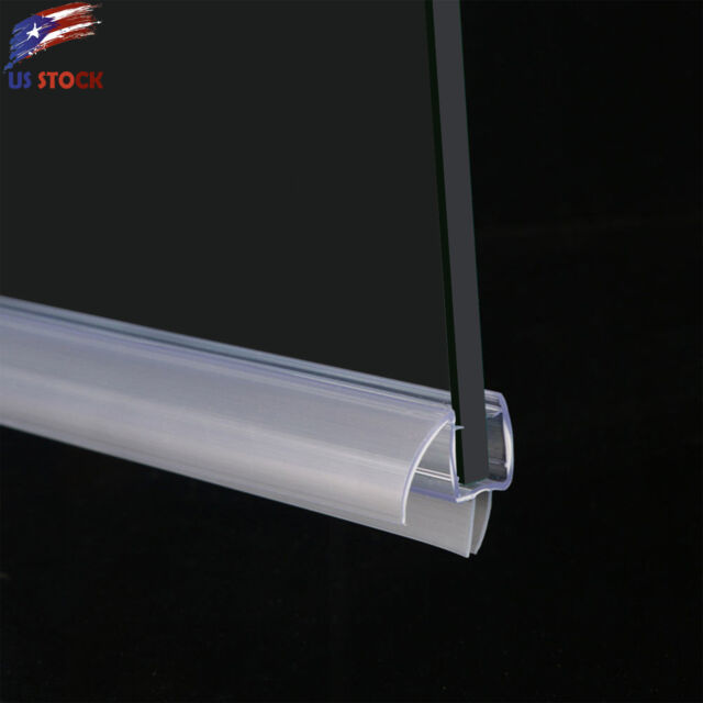 Elegant 38 Frameless Glass Shower Door Bottom Seal Sweep Rail 28