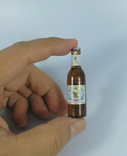 Mini Singha Beer Bottle Thai Miniature Tiny Dollhouse Collectible No Magnet