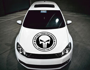 The Punisher Skull Bonnet Hood Cars Stickers Funny