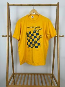 VTG-90s-Jerzees-All-The-Right-Moves-Chess-Club-Single-Stitch-T-Shirt-Size-XL-USA