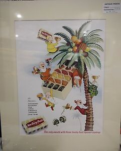 Original-1953-Vintage-Advert-mounted-ready-to-frame-Meltis-New-Berry-Fruits