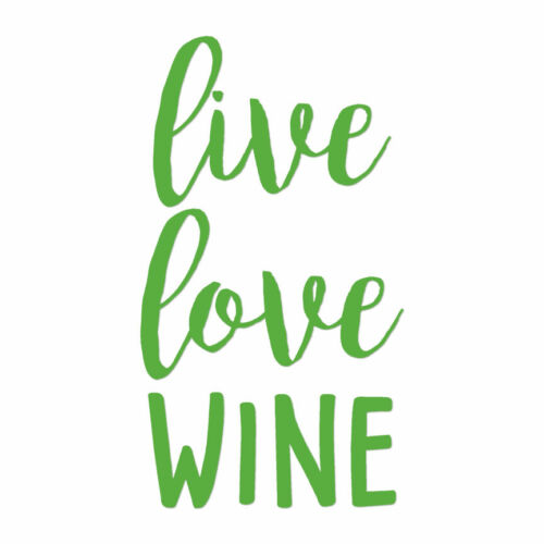 Live Love Wine Vinyl Decal Sticker Multiple Colors /& Sizes ebn4232