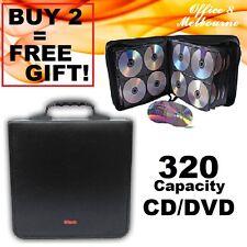 BRAND NEW 320 DVD CD DISC Holder BLACK Folder Wallet Storage Movie Game CD Case & 140 Disc CD DVD Movie Holder Folder Storage Wallet Insert Cover Post ...