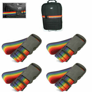 2-4-Pack-Travel-Luggage-Suitcase-Strap-Rainbow-Color-Belt-Baggage-Backpack-Bag