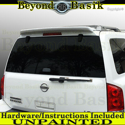 For 2004-2015 Nissan Armada 04-10 QX56 Rear Roof Spoiler Wing Fin UNPAINTED