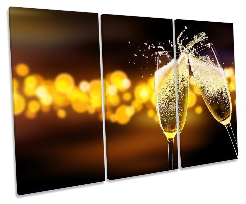 Wine Glass Kitchen Bar Framed TREBLE CANVAS drucken wand kunst
