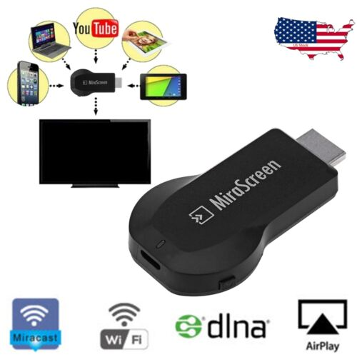 1080p MiraScreen WiFi HDMI TV Dongle DLNA Receiver Airplay Miracast For Phone