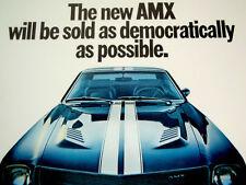 1968 AMC AMX ORIGINAL AD-V8 engine/290/343/390/JAVELIN SST/door/heads/block/hood
