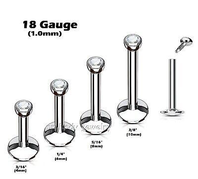 16 Gauge Sparkling Owl Steel Labret Monroe Stud Internally Threaded