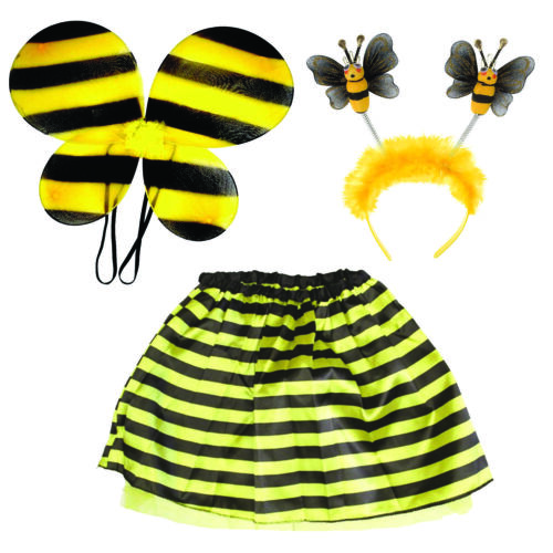 Bumble Bee Dress Up Kit Tutu Ali Testa Bopper Bambini//Adulto 2 Taglie PARTY spogliato