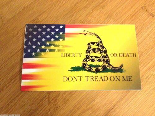 Don/'t Tread on Me American Flag Gadsden sticker decal patriot 1776 revolution