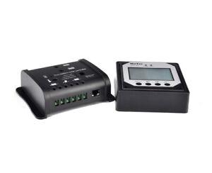 Spark-10A-Dual-Solar-Charge-Controller-Regulator-12V-24V-Caravans-LCD-remote