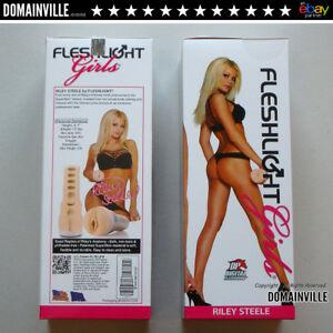 Riley-Steele-Flesh-Light-Realistic-Vagina-Male-Masturbator-Sex-Toy-W-Free-Lubes
