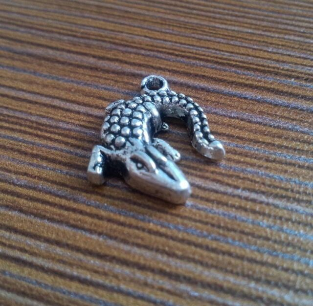 20PCS Tibetan Silver Charms alligator Accessories Jewelry Findings  PJ42