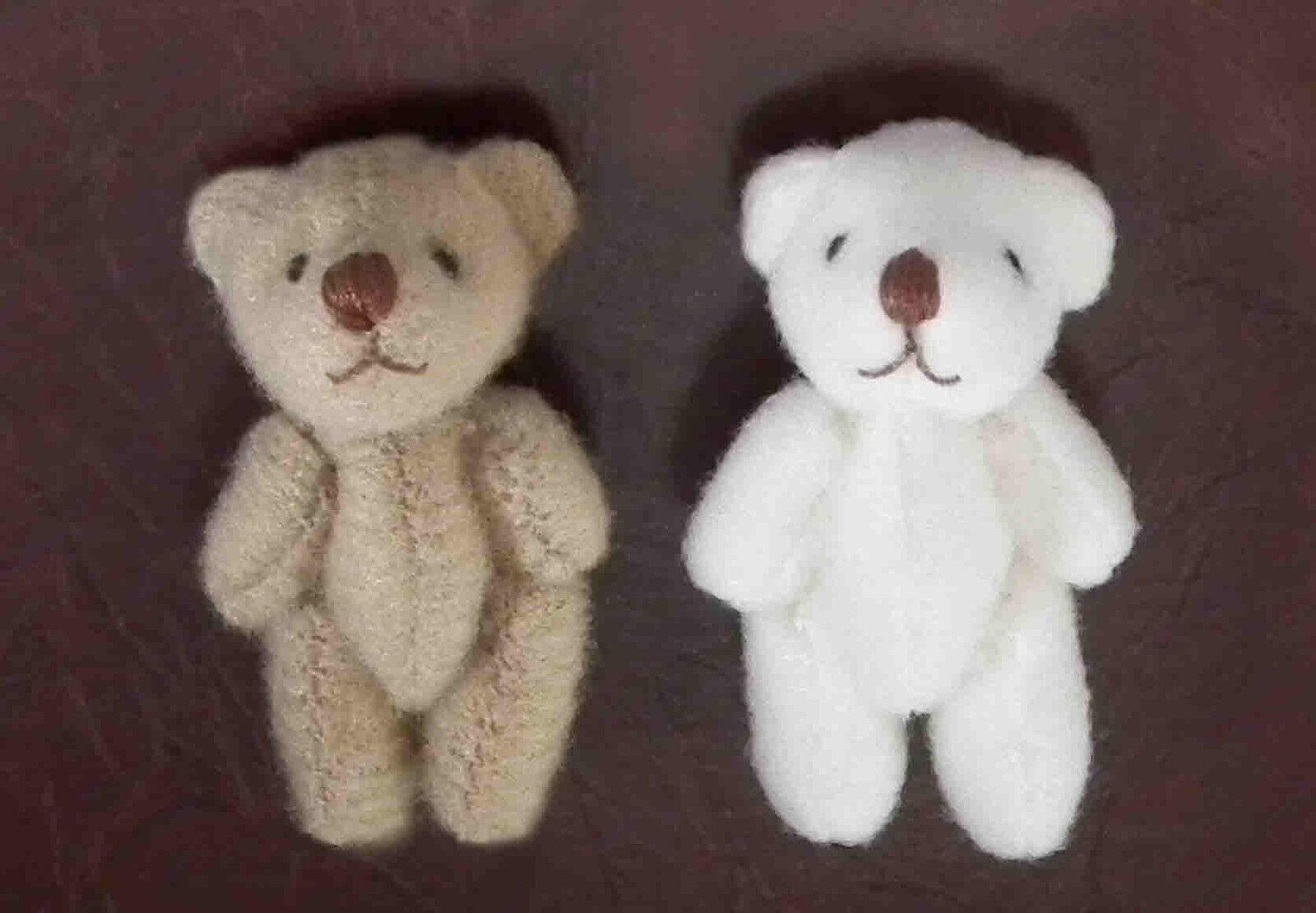 1 12 Dolls House miniature Toy 2x Teddy Bears Teddies Set Nursery Toy miniature Cot Fairy LGW 94ee8f