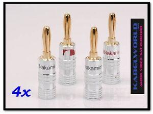 4-x-Nakamichi-HIGH-END-Bananenstecker-Bananas-4-Stk-rot-und-schwarz