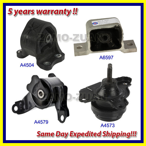 Engine Motor & Transmission Mount Set 4PCS for 2003-2011 Honda Element 2.4L Auto
