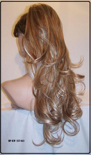 USA Blonde Strawberry #27.613 Drawstring ponytail piece hair extension fall slw