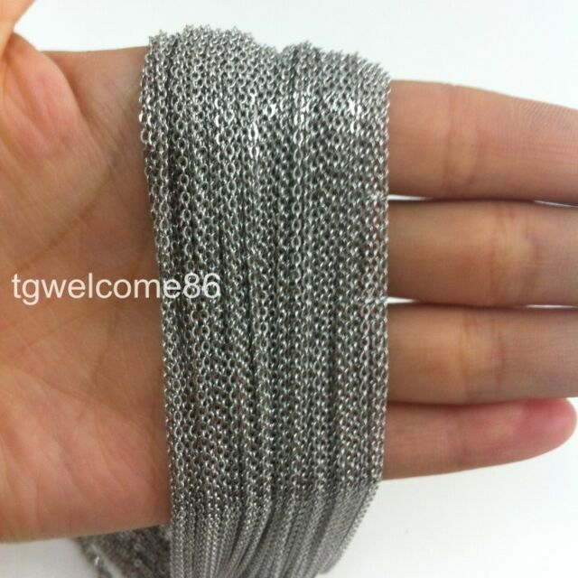 Wholesale Jewelry Finding Silver Stainless Steel Strong 3.2mm Oval Chain In Bulk