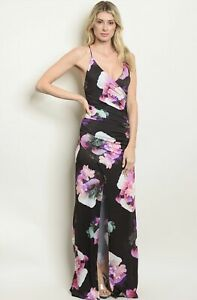 NWT Large Women's Floral Maxi Dress Fall Boutique Top