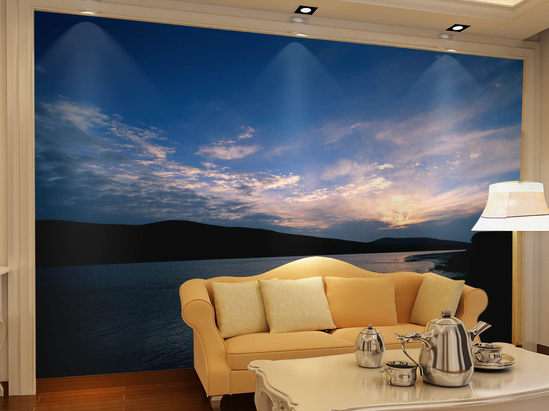 3D Sky River Ranges 5 Wall Paper Wall Print Decal Wall Deco Indoor Mural Summer