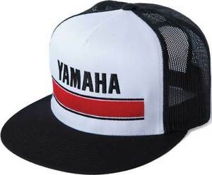 b4e5c38a86a Image is loading Factory-Effex-Yamaha-Vintage-Snapback-Hat-White-Black-