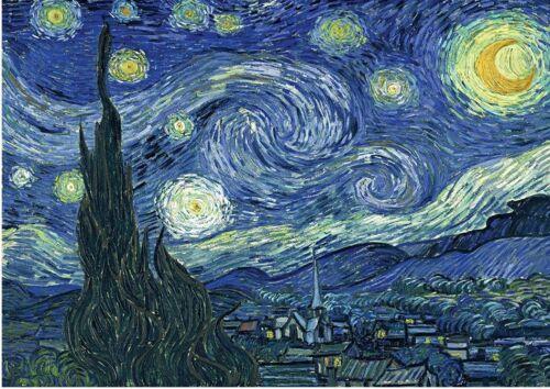 Tarjeta de felicitación Noche estrellada de van Gogh impreso en papel con sobres de 230gsm