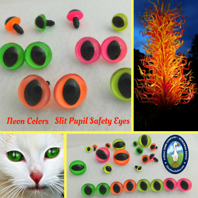 CHOOSE FROM 3 SIZES TEDDYS,DOLLS,CRAFT,TOYS SAFETY CATS EYES