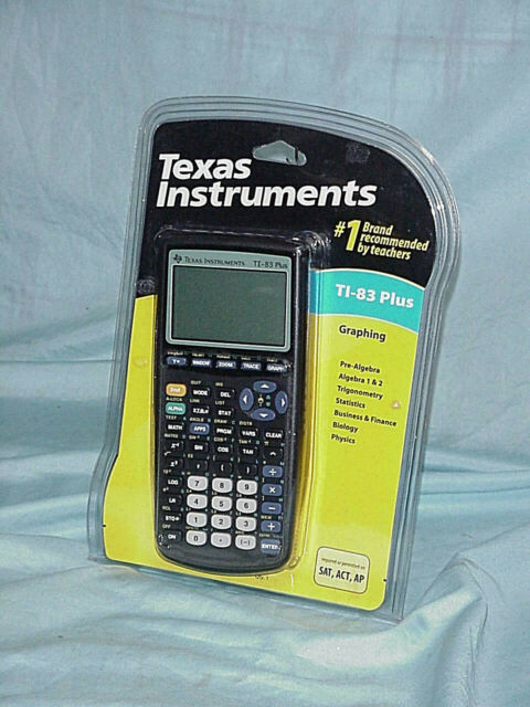 BRAND NEW Texas Instruments TI-83 Plus Graphing Calculator - SAT, ACT, AP PSAT