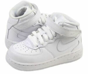 391bb3e707 Nike Air Force 1 Mid Uk7.5 Triple White Infant/Toddler Basketball ...
