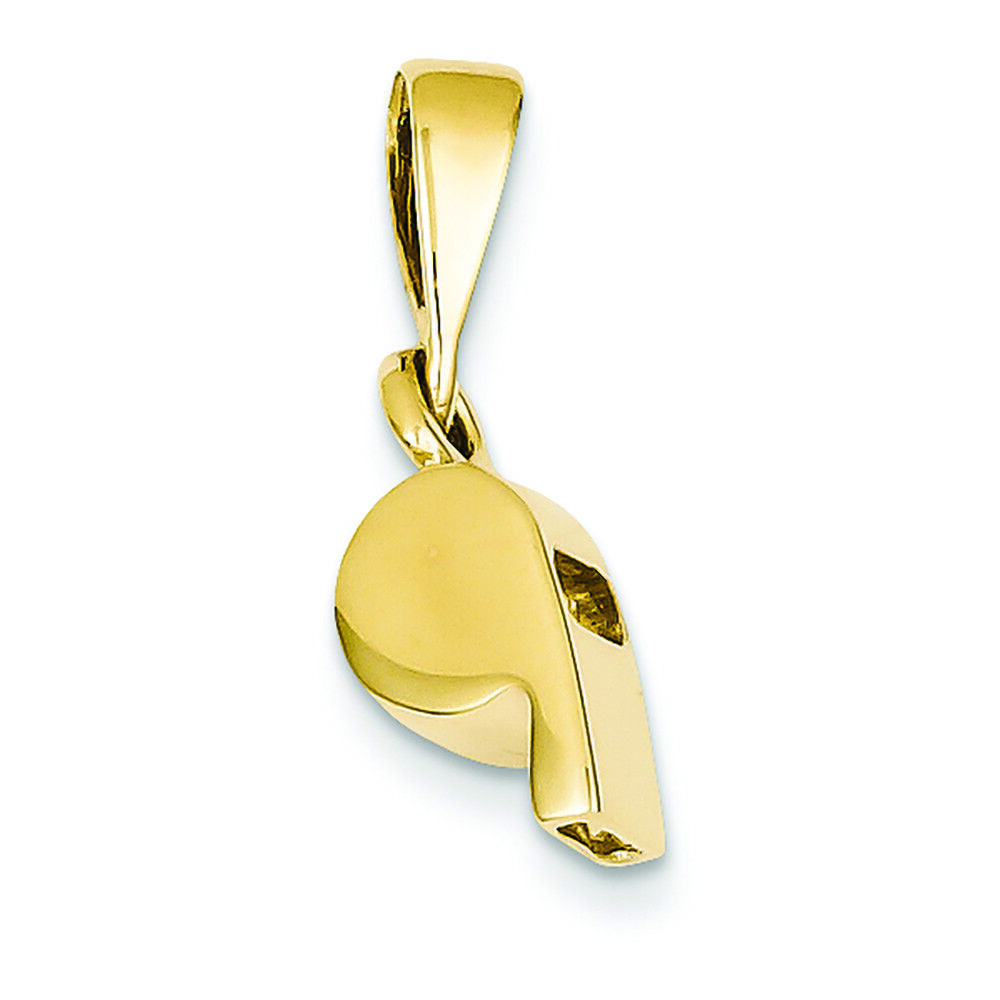 14K Yellow gold Sports Whistle Charm Pendant MSRP  481