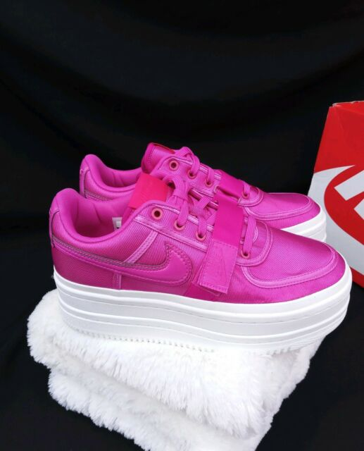 the latest a382d b2c05 12 Nike Vandal 2K Double Stack casual PLATFORM Magenta pink White AO2868-500