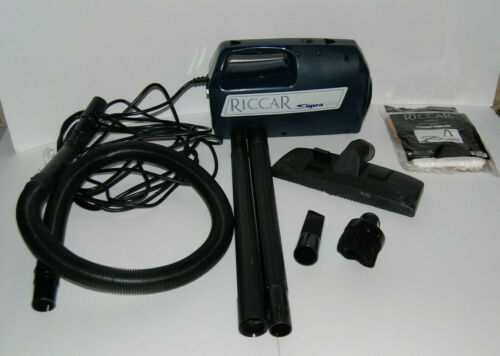 Riccar Supra Quik Portable Vacuum Cleaner RSQ1.4 W/ Attachments FREE SHIPPING