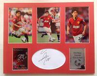 Shinji Kagawa Signed Photo Montage Display Manchester United Autograph