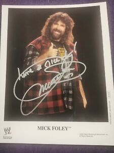 Original signiertes Foto Photo signed 8x10 Mick Foley wwf wwe wcw Wrestling