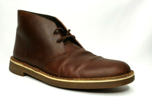 Clarks Men/'s 26034135 Bushacre 2 Dark Brown Leather Lace Up Chukka Boots Shoes