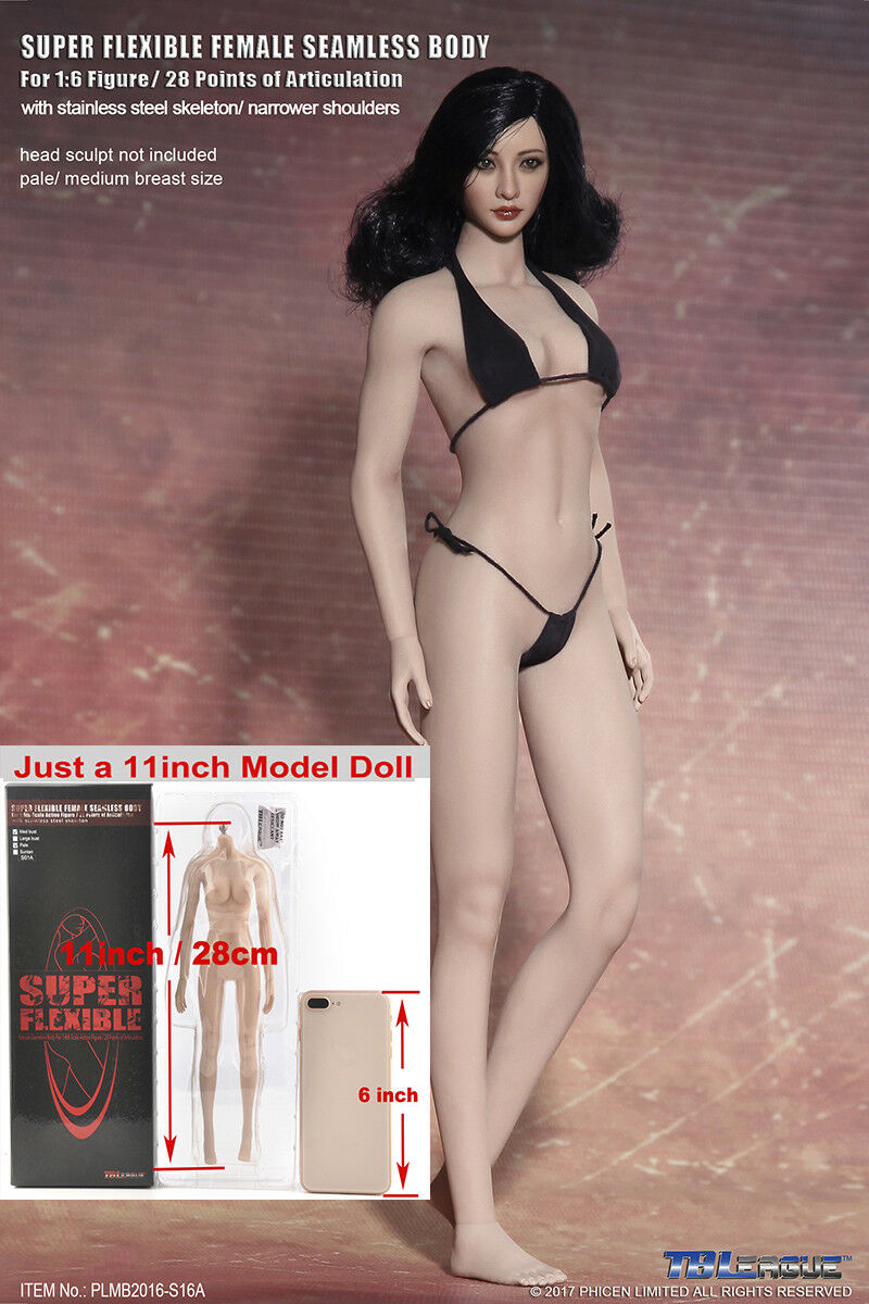 1 6 Female Middle Breast Pale Body Model Toy PLMB2016-S16A TBLeague Figure Toy