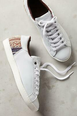 women Us 10 Obedient Howsty X Anthropologie Womens Zia Kilim Sneakers White 41 Euro New Convenient To Cook