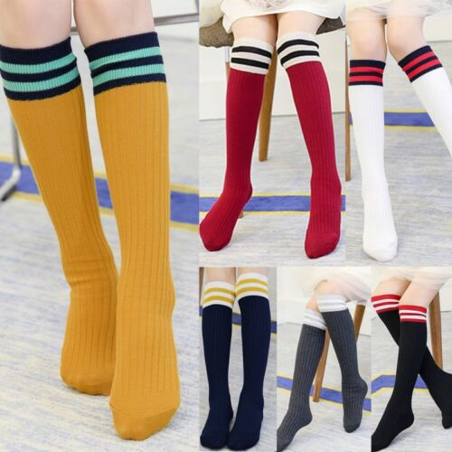 Kids Baby Long Socks Toddler Boy Girl Football Knee High Stockings Sports Soccer