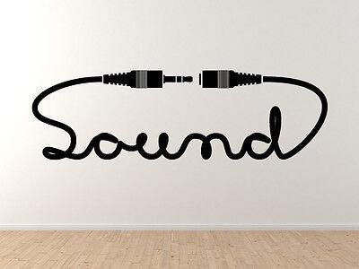 Car Tablet Vinyl Decal Sound Calligraphy Jack Connector Plug DJ Audio #2