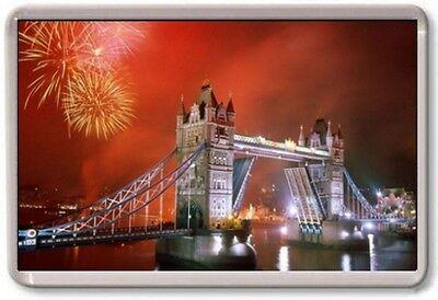 FRIDGE MAGNET - TOWER BRIDGE - Large Jumbo - UK England London (Red)