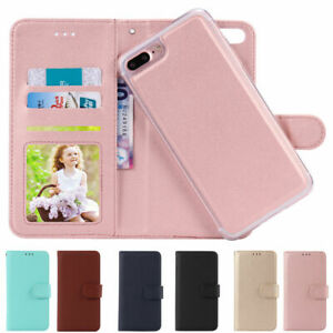 For-iPhone-8-7-6-Plus-XS-Flip-Leather-Magnetic-Back-Removable-Wallet-Case-Cover