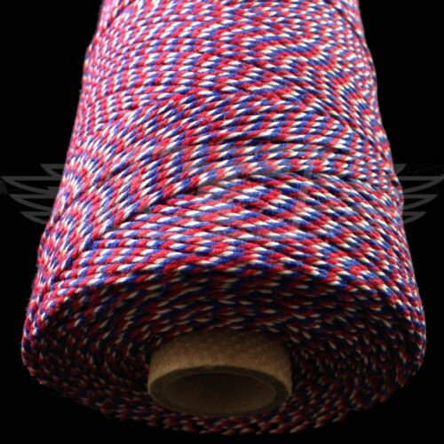 STRING CORD EVERLASTO BEAUTIFUL BAKERS TWINE RED//WHITE//BLUE 2mm 2 PLY