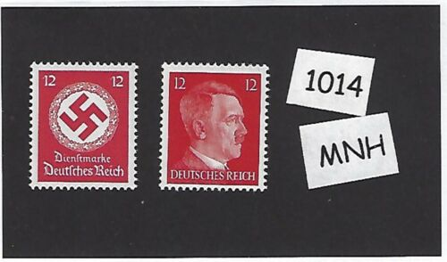 PF12 MNH stamp set MNH Third Reich stamps Adolph Hitler /& Nazi Swastika