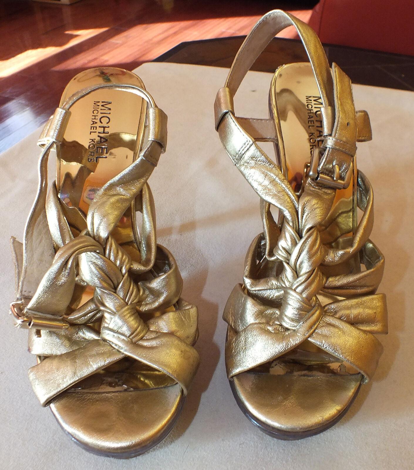 Auth Michael Kors Ladies Shoes Heels Sz. 7.5 M Used