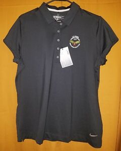 dff6e95942bfe New Women s Black Nike Dri-Fit Golf Short Sleeve Stretch Polo Shirt ...