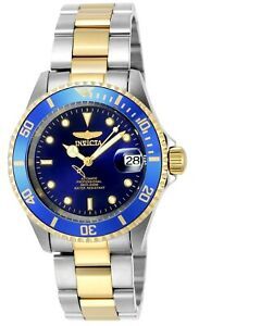 Invicta-Men-039-s-Watch-Pro-Diver-Automatic-Two-Tone-Stainless-Steel-Bracelet-8928OB