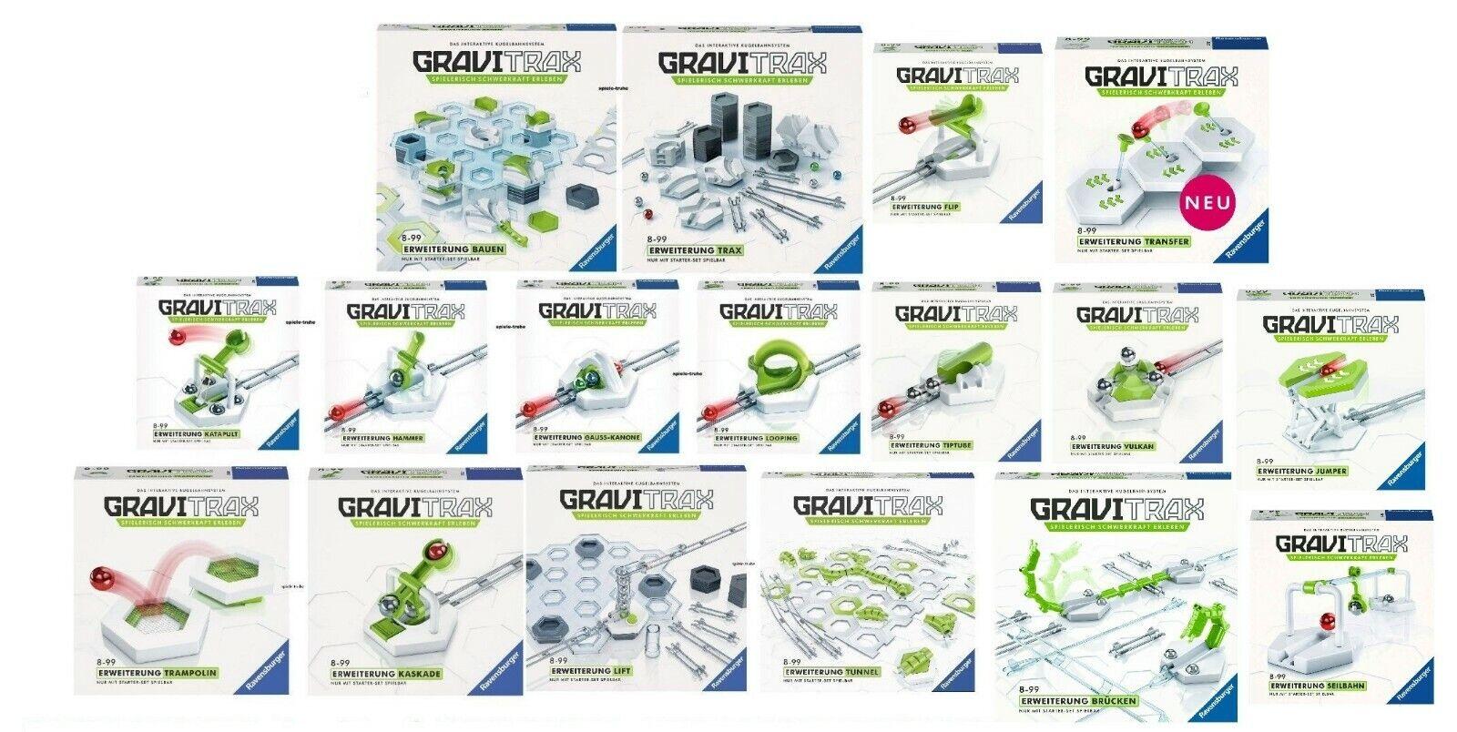RAVENSBURGER GraviTrax® ALLE 17 ERWEITERUNGEN - KUGELBAHNSYSTEM